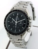 "Omega Speedmaster Chronograph ""Man on The Moon"" RARE Men's 40mm Stainless watch."