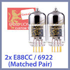 2x NEW Genalex Gold Lion E88CC 6922 Vacuum Tubes TESTED, Matched Pair