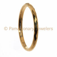 Tungsten Carbide Ring 2MM Faceted Gold IP Wedding Band Stackable Midi or Toe