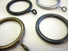 10 Cameron Fuller wrought iron curtain pole rings - Large metal loop with eye.