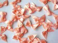 50 SMALL PETITE SINGLE SIDED SATIN RIBBON BOWS 20MM WIDE APPROX. VARIOUS COLOURS