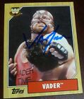 Big Van Vader Signed 2007 Topps Heritage III Card #87 Autograph WWE Auto Legends