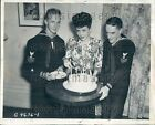 1944 US Coast Guardsmen Celebrate 154th Anniversary Boston Wire Photo