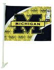Michigan Wolverines 2 Sided Car Flag w/Mounting Pole/Bracket BRAND NEW FOR 2012!