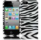For Apple iPhone 5 HARD Protector Case Snap On Phone Cover Zebra
