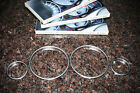 BMW E38 E39 X5 INSTRUMENT CLUSTER DASH BOARD SILVER / TITAN COLOR GAUGES RINGS