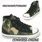 KIDS Toddlers Boy Girl CONVERSE All Star CAMO HI TOP Trainers Boots 25 SIZE UK 9