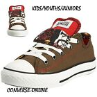 KIDS Boy Girl CONVERSE All Star DOUBLE TONGUE OX GRAFFITI Lo Trainers SIZE UK 11