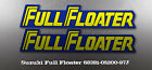 SUZUKI FULL FLOATER 68381-05200-97J WICKED TOUGH DECALS GRAPHIC LIKE NOS
