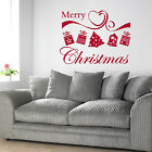Merry Christmas Ribbon Decoration - Vinyl Wall Art Sticker Decal