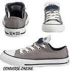 KIDS Boy Girl CONVERSE All Star GREY WHITE DOUBLE TONGUE Trainers Shoe SIZE UK 1