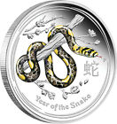 2013 Year of the Snake - 1/2oz Silver Proof Coloured Coin - Perth Mint 1/2 oz