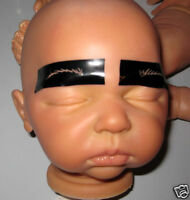 REALISTIC REBORN BABY DOLL EYEBROW STENCILS-12 sets OOAK-Easy 2 Use/FastDelivery