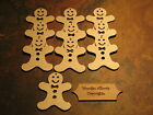 10x Birch Ply Wooden Gingerbread Man Shape Gift Tag or craft 92mmX75mm inc twine