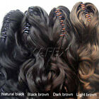 Fashion Long Wavy curly Ponytail Pony Hair clip in hair Extension 3Colors