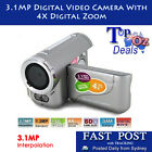 New Silver 3.1MP Video Camera 1.44 LCD Digital Zoom Camera DV Cam Camcorder