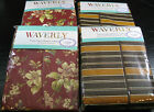 WAVERLY PEVA FLANNEL BACK TABLECLOTHS- ASSORTED PATTERNS & SIZES- BRAND NEW