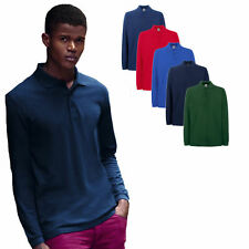 Fruit of the Loom Langarm Premium Polo Shirt  S - XXXL