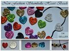 Rhinestone Crystal Pave Disco Heart Beads great for Shamballa 12x10mm NEW STYLE