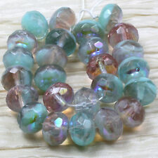 Rare! *Pick Your Color * 10pc 14x9mm Chunky Gemstone Cut Czech Glass Beads