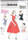 Easy Vintage 50s Retro Rockabilly Strapless or Tie Dress Pattern 6 8 10 12 14