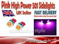 PINK SMD HIGH POWER LED SIDELIGHT BULBS 501 W5W VAUXHALL CORSA B C NOVA