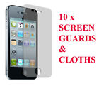 10 x Pack Apple iPhone Screen Protector 4 4S Clear LCD Cover Clear Guard