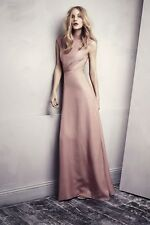 H&M Conscious Collection Exclusive Old Rose Pink Backless Long Dress UK 12 14 16