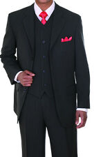 New Men's 3 piece Classic Luxurious Wool Feel Suit with vest Charcoal  # 802V