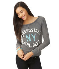 Womens Aeropostale Washed-Out Sweatshirt Long Sleeve Warm Aero 1987 NY Sweater!