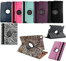 "PU Leather 360 Rotating Case Cover Stand for Barnes & Noble Nook HD+ 9"" Tablet"