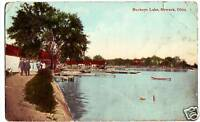 1912 BUCKEYE LAKE Ohio Postcard Newark People Boats