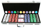 500 Clay 11.5g Ace/Jack Poker Chips Custom Set With Case You Customize COLORS *