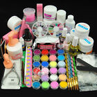 Luxurious Primer UV Acrylic 18 Powder Liquid KITS NAIL ART TIP KIT 6 Glitter 106