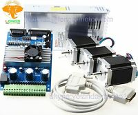【US Ship】Nema 23 Stepper Motor 270oz-in,3A 4leads+3 Axis Board CNC Kit