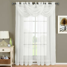Abri Grommet crushed sheer curtain panel.