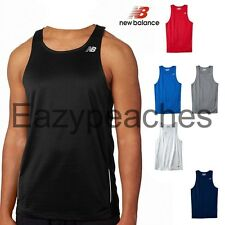 New Balance Mens TEMPO Running Singlet Gym Tank Top T-Shirt dri-fit S-3XL N9138