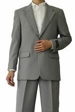 Men's basic Gray suit come in 20 + colors by Milaono Moda #802P