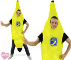 ADULT BANANA COSTUME FUNNY FRUIT FANCY DRESS HEN STAG NIGHT PARTY SUIT UNISEX