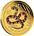 2013 Perth Mint Lunar Series 1oz coloured proof gold coin - Snake