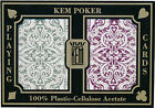 KEM 100% Plastic Playing Cards Jacquard Wide Jumbo Index CASINO POKER ROOM *