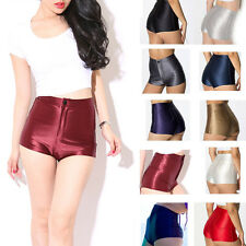 Disco High Waisted Shiny Stretch Shorts Apparel Hot Pants XS S M L