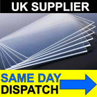 8mm Clear Acrylic Sheet A3 420 x 297 Perspex Safety Glazing Frame Plastic Sheet