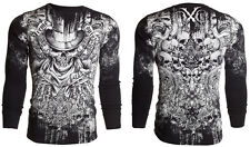 Xtreme Couture AFFLICTION Mens THERMAL T-Shirt OFFERING Tattoo Biker M-3XL $58 a