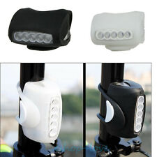 FRONT Bright 7 LED Bike Bicycle Head Light  Lamp Headlight - FREE BATTERY