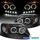 1997-2003 Ford F150 Expedition Halo LED Projector Headlights Black SpecD Tuning