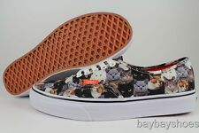 VANS AUTHENTIC ASPCA CATS COLLAGE PRINT WHITE/BLACK/GRAY KITTENS US WOMENS SIZES
