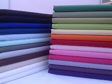 PLAIN 100% Cotton Fabric, Red, Green, Blue, Purple, Craft, Kids, metre, 1/2m