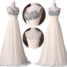 XMAS SEQUINS Long Party Dresses Homecoming WEDDING Cocktail Prom Gown PLUS SIZE