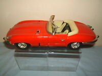 "VINTAGE LARGE  TINPLATE FRICTION DRIVEN  MODEL OF A JAGUAR ""E"" TYPE  ROADSTER"